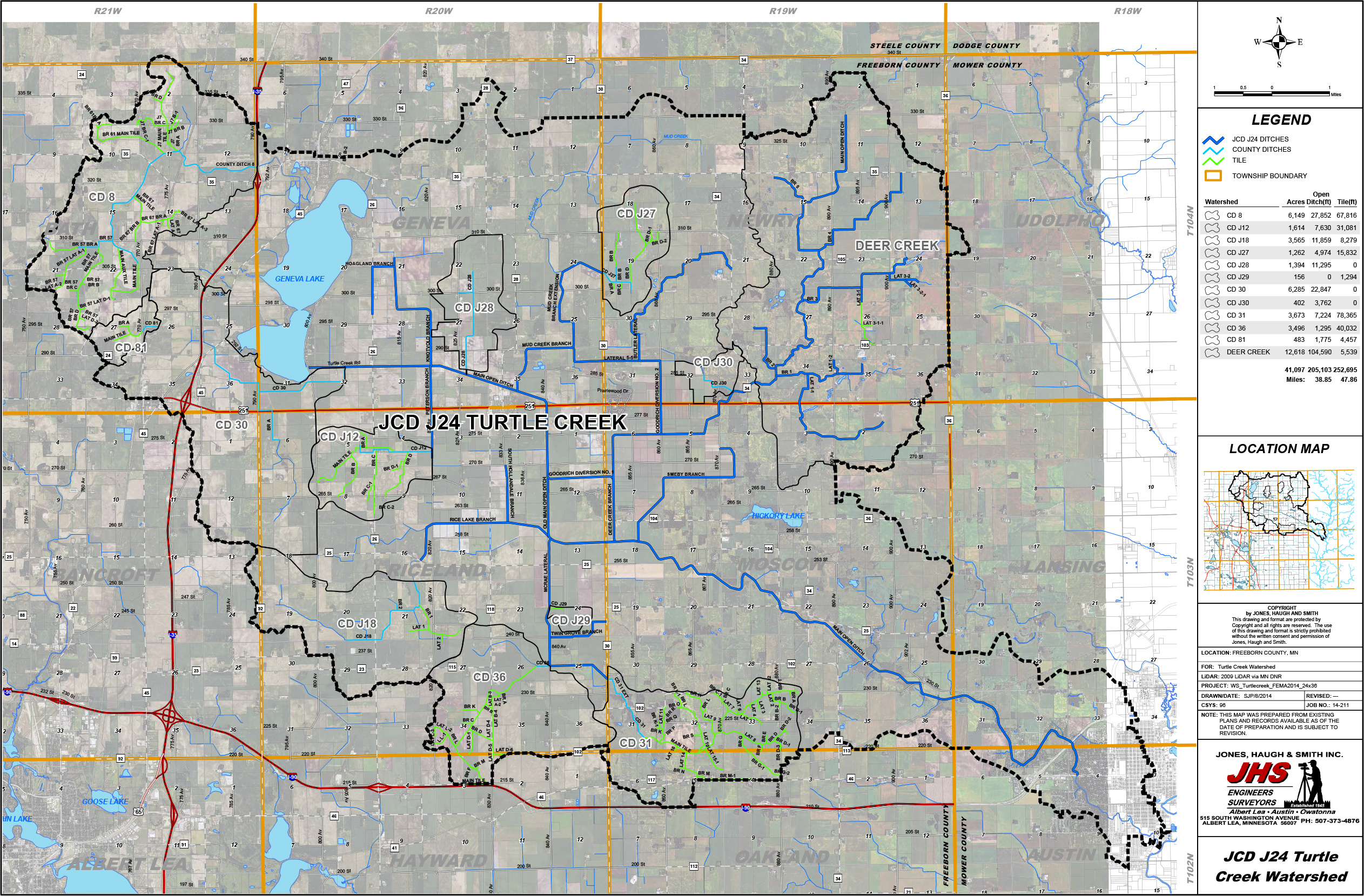 Turtle Creek Watershed Map